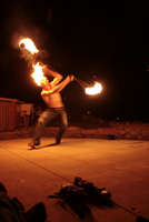 Yes I Spin Poi With My MoHawk On Fire & Yes it is Intensional uploaded by Raah