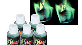 5 x Green Colored Flame Additive