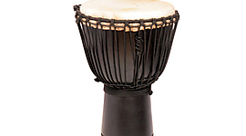 Djembe Drum - 'Geo Black' M-20 inch