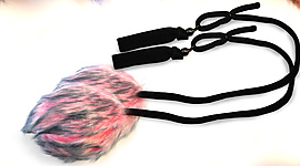 Pair of Corded Fluffy Poi