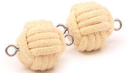 Pair of Intermediate 2.5 inch (65mm) monkey fist rope wicks