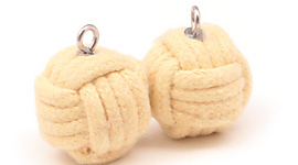 Pair of 2.5 inch (65mm) Monkey Fist Rope Wicks
