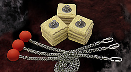 Set of 3 Pro-Air Cathedral Fire Poi