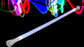 LED Glow Short Staff/Baton - 3ft  (950mm)