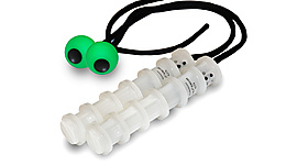 Pair of Ninja V4 LED Poi with Silicone Ball Cole Cords