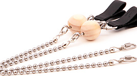 Pair of Ball Chain Cords with Combination Handle