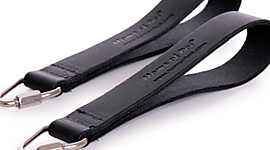 Pair of Leather Single Loop Handles with Quicklinks