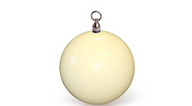 Single Pendulum Contact 2 7/8 Inch (72mm) Glow Ball with swivel