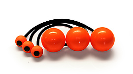 Set of 3 Poi with 2 7/8 Inch (72mm) Balls