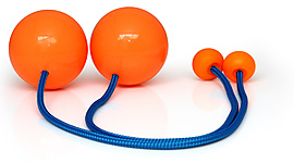 Pair of Flex Pendulum Poi with 2 7/8 Inch (72mm) Balls - PX3
