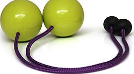 Pair of Flex Pendulum Poi with 3.15 Inch (80mm) Balls - PX3