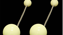 Pair of Flex Glow Pendulum Poi with 2 7/8 Inch (72mm) Balls