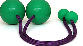 Pair of Pendulum Contact Poi with 3.15 Inch (80mm) Balls