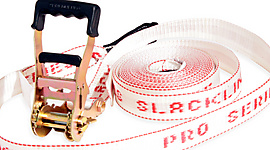 Pro Series White Slackline 2inch x 32ft (50mm x 10m)