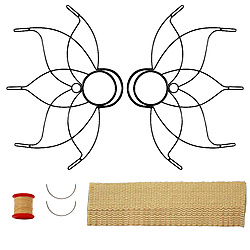 Pair of Medium Lotus Fire Fans 2inch Wick Kit - Make Your Own