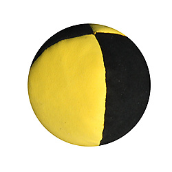 2.5inch 4 Panel Suede Juggling Ball