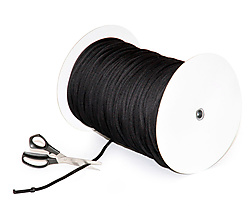 Length of 0.28 inch Thick Black Colecord