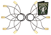 Pair of Medium Lotus Fire Fans with DVD