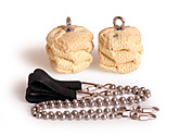 Pair of Medium Twista Ball Chain Fire Poi