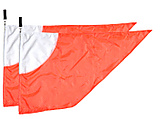 Pair of Dual Color Flags|Pair of Dual Colour Flags