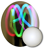 Single 5.7oz (165g) LED Glow Juggling 2 3/4 Inch (70mm) Ball|Single 165g (5.7oz) LED Glow Juggling 70mm (2 3/4 Inch) Ball