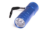 Single 9 LED Flashlight with batteries