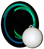 Single Multi-Color LED Glow Ball with Attachment Ring