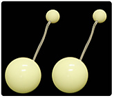 Pair of Flex Glow Pendulum Poi with 3.15 Inch (80mm) Balls|Pair of Flex Glow Pendulum Poi with 80mm (3.15 Inch) Balls