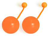 Pair of Pendulum Contact Poi with 4 Inch (100mm) Balls|Pair of Pendulum Contact Poi with 100mm (4 Inch) Balls