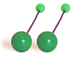 Pair of Flex Pendulum Poi with 2 7/8 Inch (72mm) Balls|Pair of Flex Pendulum Poi with 72mm (2 7/8 Inch) Balls