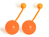 Pair of Pendulum Contact Poi with 3.15 Inch (80mm) Balls|Pair of Pendulum Contact Poi with 80mm (3.15 inch) Balls