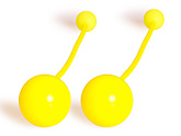 Pair of Pendulum Contact Poi with 80mm Balls