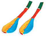 Pair of Empty One-piece Jester Cone Poi