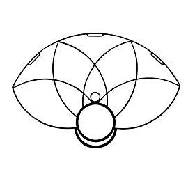 SINGLE HoP Lotus Petal Fire Fan Frame