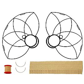 Pair of Lotus Petal Fire Fans with 2 inch wick Kit - Make Your Own