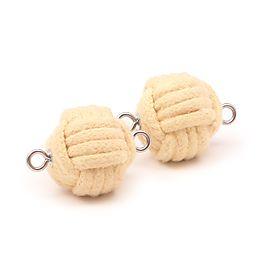 Pair of Intermediate 2.5 inch (65mm) monkey fist rope wicks