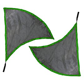 Pair of Dragon Wing Poi Flags with V2 Handles