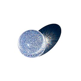 Acrylic Contact Juggling Ball 2 9/16 Inch (65mm) - Glitter UV