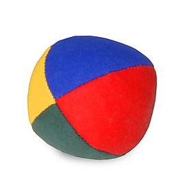 juggling of roberband, 63mm (2.5inch) 4 Panel Fabric Juggling Ball