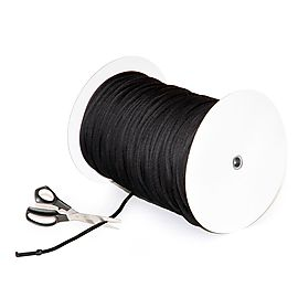 30m Length of 7mm Thick Black Colecord