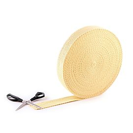 100 ft roll of 15 x 1 8 inch Kevlar wick, Length of 2 x 1/8 inch (50mm x 3.2mm) Kevlar ® Wick