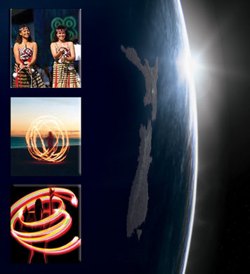 Home of Poi, New Zealand, first to see each new day