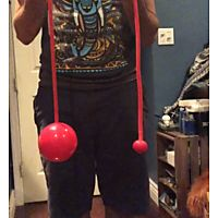 Pendulum Contact Poi with 4 Inch (100mm) Balls